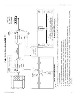 Ca w iring for the garmin gsd 22, Gsd 22 sounder module
