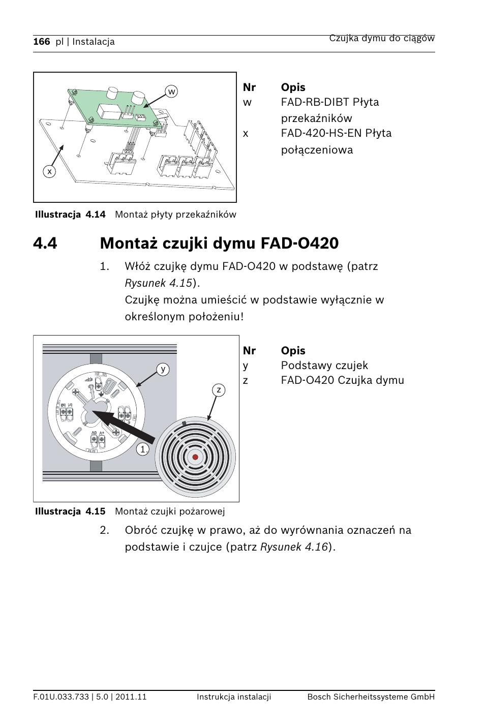 medium resolution of 4 monta czujki dymu fad o420 bosch fad 420 hs en