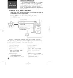 wiring specifications garmin gps 125 sounder user manual page 74 84 [ 954 x 1235 Pixel ]