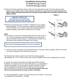 trucenter steering control system installation instructions blue ox tc35270 user manual page 3 7 [ 954 x 1235 Pixel ]