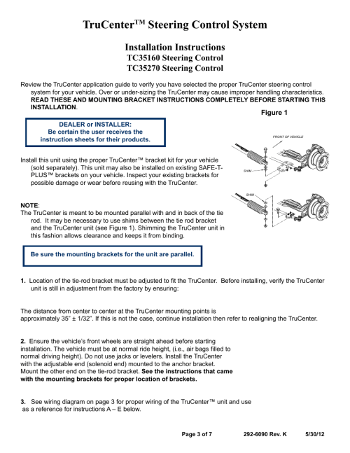 small resolution of trucenter steering control system installation instructions blue ox tc35270 user manual page 3 7