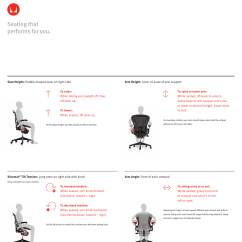 Aeron Chair Herman Miller Manual Step 2 Chairs - User Adjustments | Pages