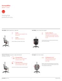 Herman Miller Aeron Chairs - User Adjustments User Manual ...