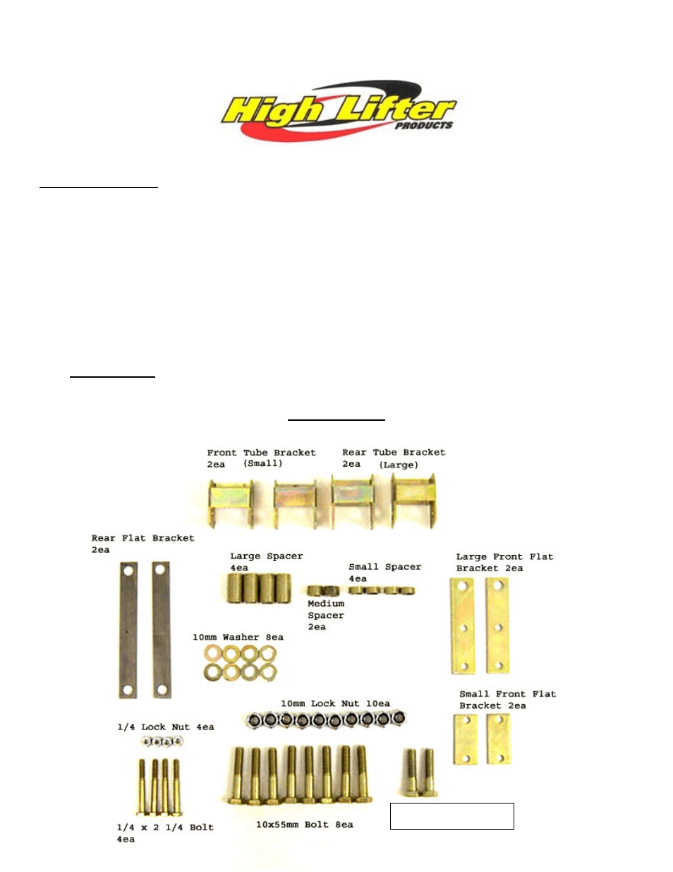 hight resolution of high lifter lift kit for suzuki eiger 400 2x4 4x4 02 07