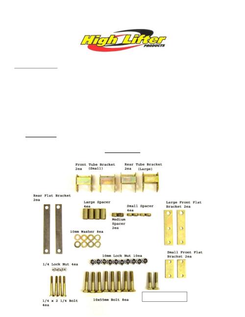 small resolution of high lifter lift kit for suzuki eiger 400 2x4 4x4 02 07