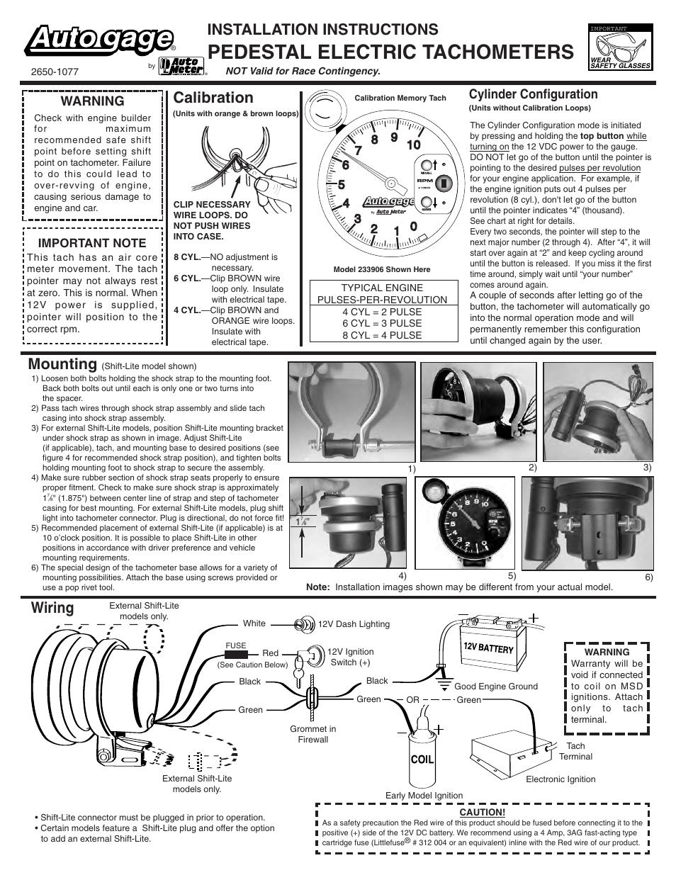 Memory Tach Wiring Diagram Change Your Idea With Gliderol Instructions Library Rh 17 Ayazagagrup Org 429371 Stewart Warner Tachometer Autogage