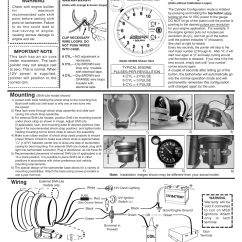 Sun Super Tach Ii Wiring Diagram Cell Cycle Circle Install 2 Toyskids Co Tachometer
