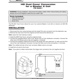 msd 8401 modified hei coil dust cover v8 installation user manual 2 pages [ 954 x 1235 Pixel ]