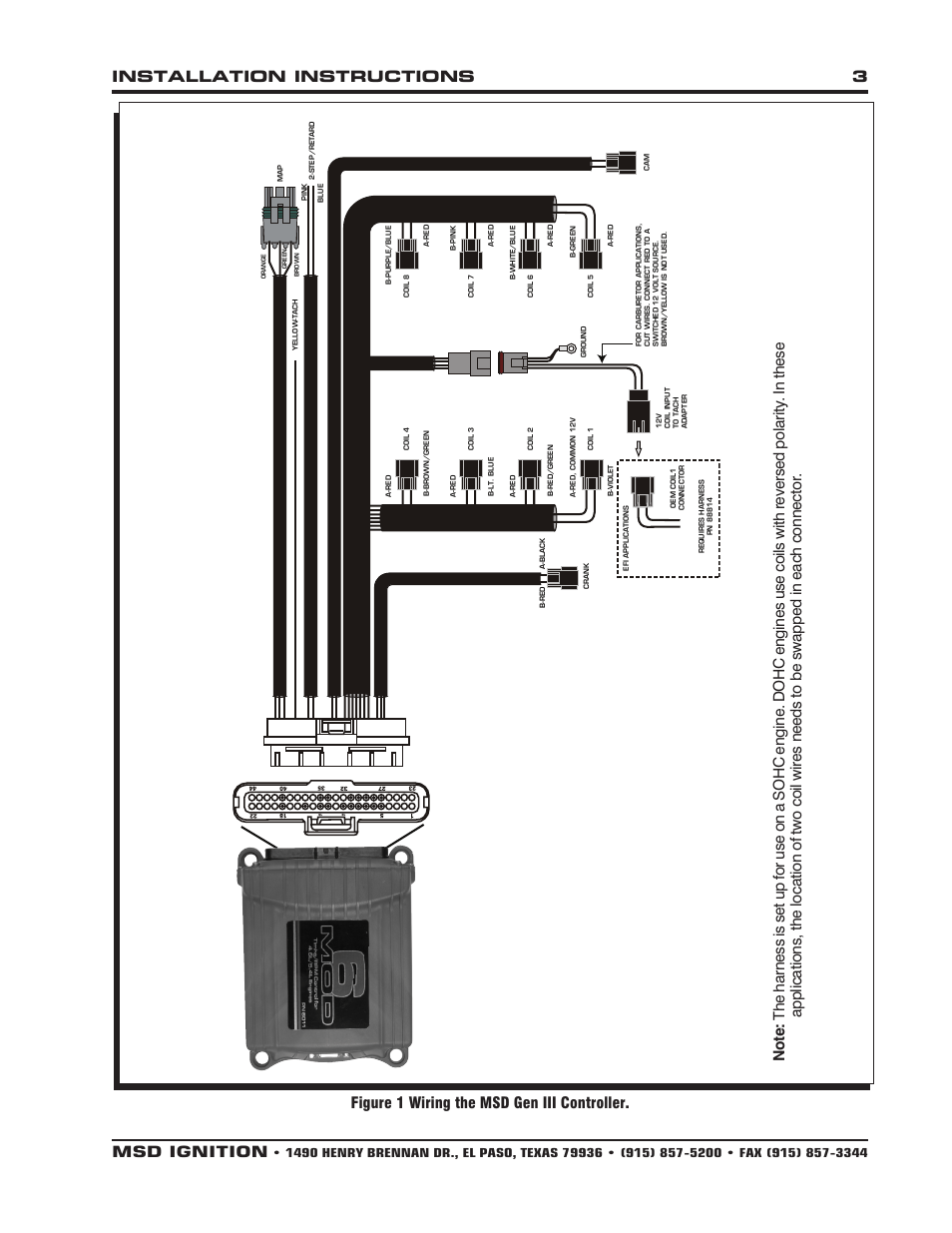 hight resolution of msd 6011 ford modular ignition controller for 4 6l 5 4l installation user manual page 3 8