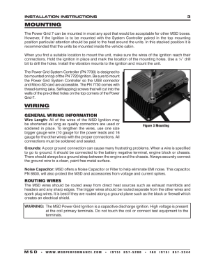 Mounting, Wiring | MSD 7720 Power Grid System  Ignition Control Only Installation User Manual