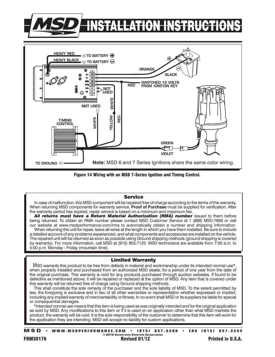 medium resolution of msd 8363 cadillac v8 distributor w vacuum advance installation user manual page 8 8