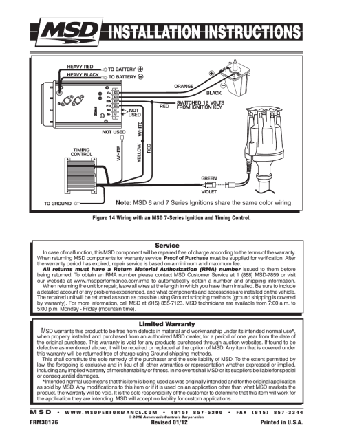 small resolution of msd 8363 cadillac v8 distributor w vacuum advance installation user manual page 8 8
