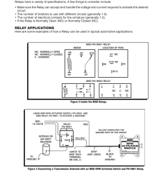 relay applications msd 8961 high current relay spst installation user manual page 2 4 [ 954 x 1235 Pixel ]