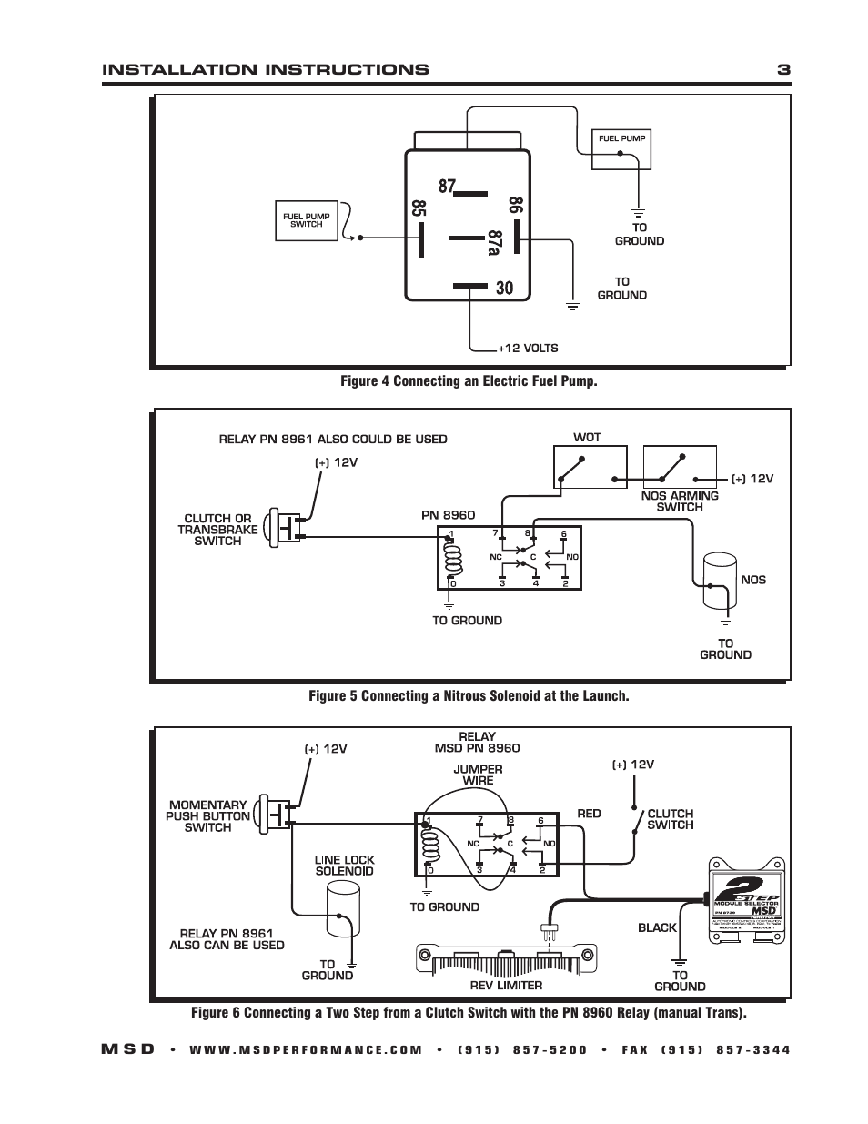 medium resolution of msd 8961 high current relay spst installation user manual page 3 4 also for 8960 high current relay dpst installation