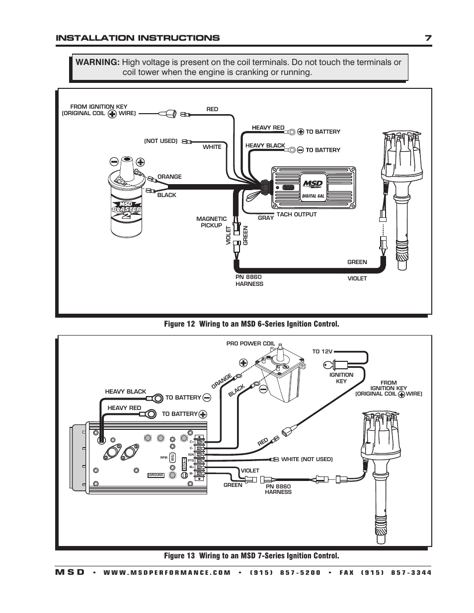 msd 6al 2 wiring diagram vdo gauges diagrams oil pressure sender installation instructions 7 m s d | 85501 chevy v8 pro-billet distributor user ...