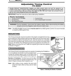 msd 8680 adjustable timing control installation user manual 8 pages rh manualsdir com msd 6al 6420 wiring diagram msd 6al wiring diagram [ 954 x 1235 Pixel ]