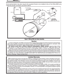 limited warranty service figure 2 wiring with the diode assembly msd 8910 tach adapter installation user manual page 2 2 [ 954 x 1235 Pixel ]