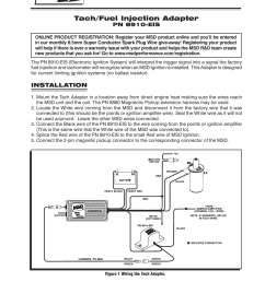 msd 8910 eis tach adapter installation user manual 2 pages msd 6al wiring msd tach wiring diagram [ 954 x 1235 Pixel ]