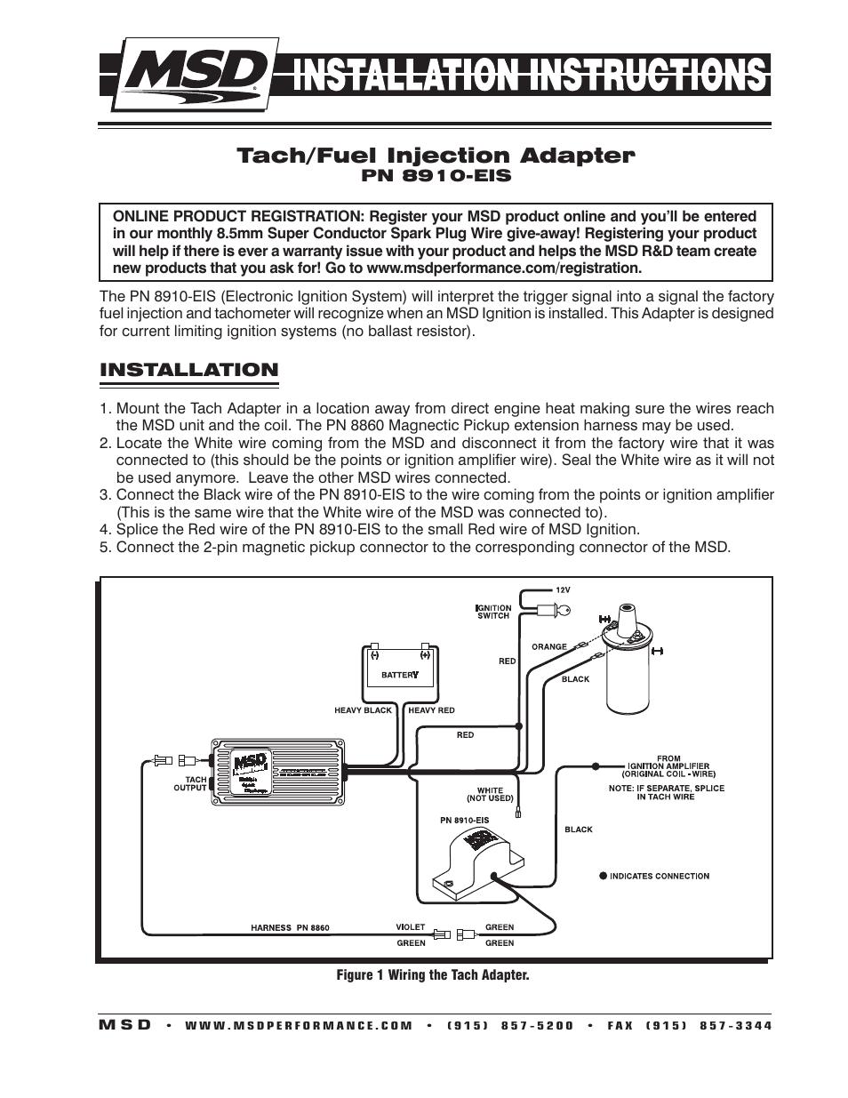 hight resolution of msd 8860 wiring harnes