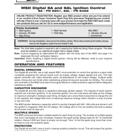 msd 6201 digital 6a ignition control user manual 20 pages also for 6201 digital 6a ignition control installation installation [ 954 x 1235 Pixel ]