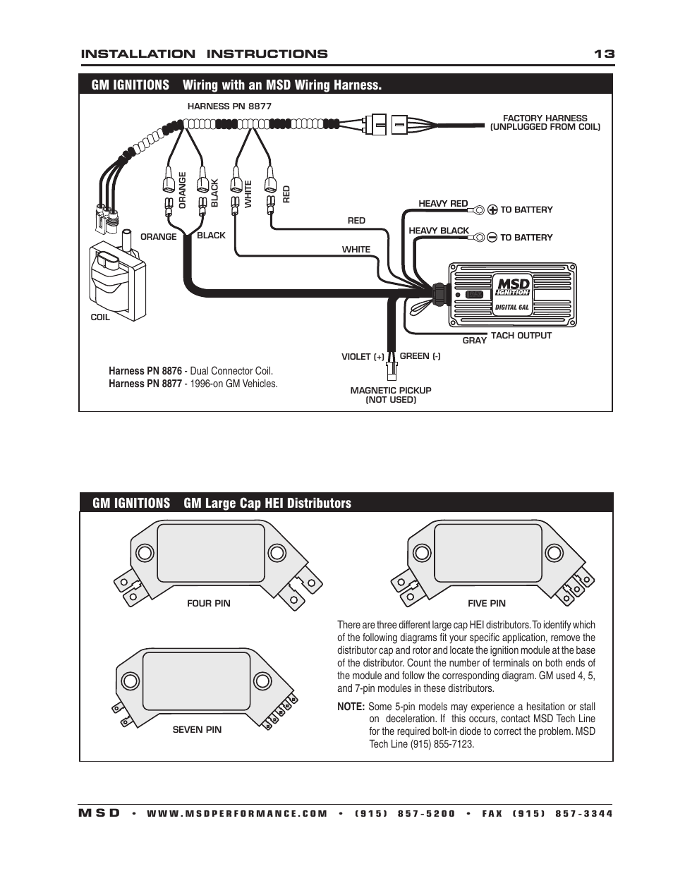 hight resolution of gm ignitions wiring with an msd wiring harness gm ignitions gm gm hei distributor to msd 6200 msd digital 6a wiring harness