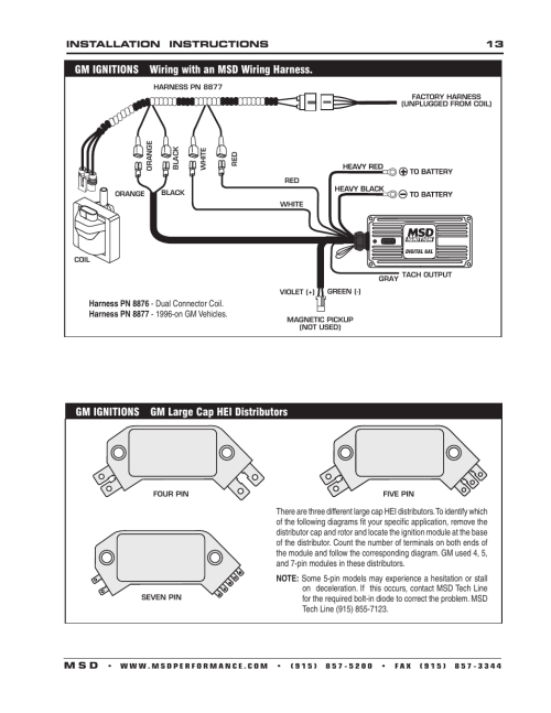 small resolution of gm ignitions wiring with an msd wiring harness gm ignitions gm gm hei distributor to msd 6200 msd digital 6a wiring harness