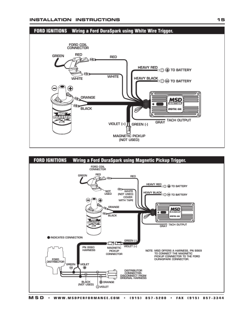 small resolution of installation instructions 15 m s d msd 6201 digital 6a ignition control user manual page 15 20