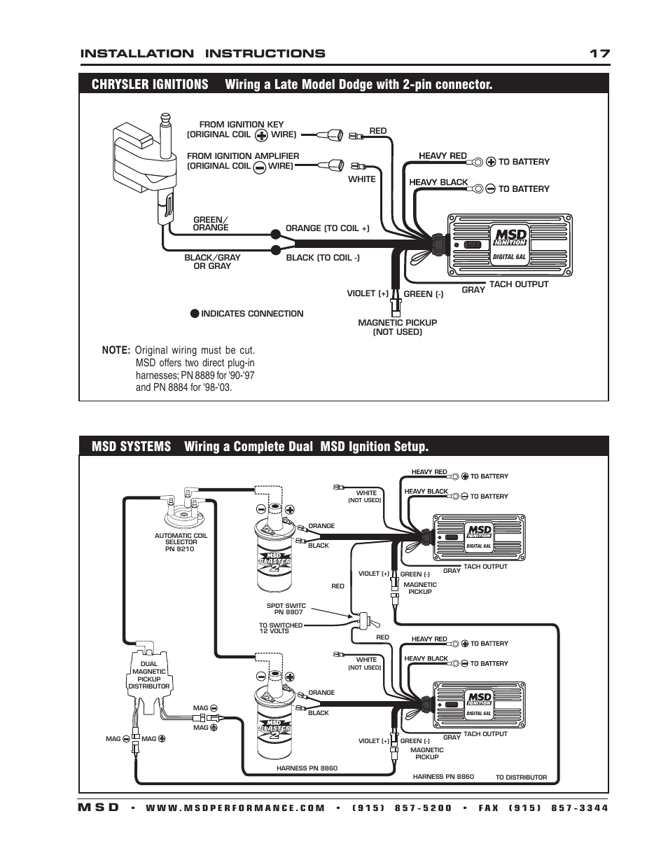 Msd Ignition Systems Wiring Diagrams Msd Electronic Ignition Wiring