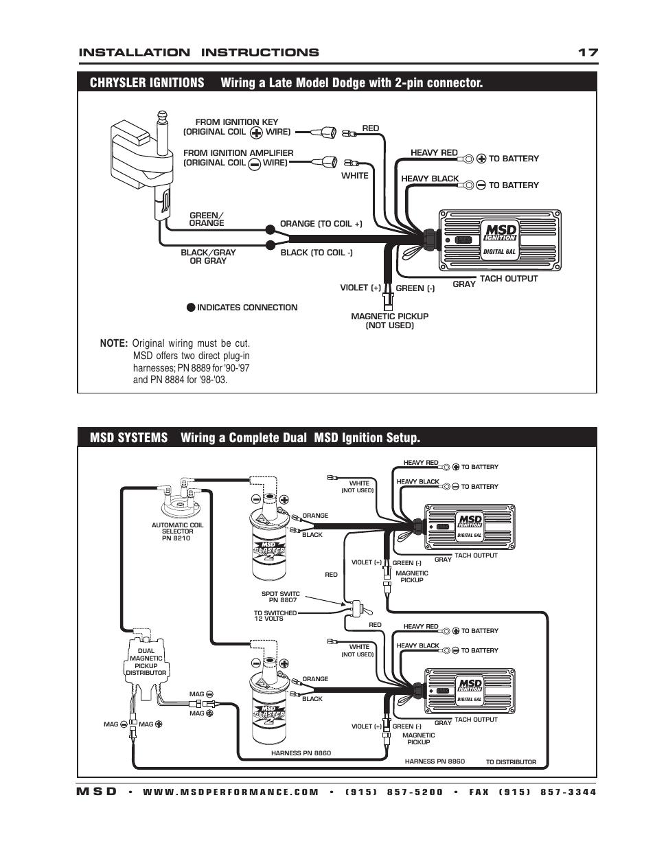 hight resolution of installation instructions 17 m s d msd 6201 digital 6a ignitioninstallation instructions 17 m s d msd 6201 digital 6a