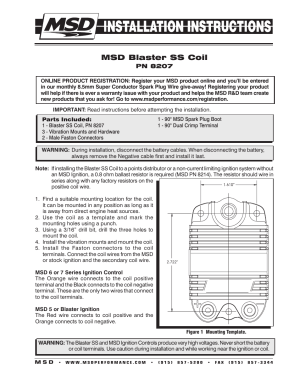 MSD 8207 Blaster SS Coil Installation User Manual | 2 pages