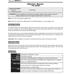 msd 8984 starter saver w signal stabilizer installation user manual 2 pages [ 954 x 1235 Pixel ]