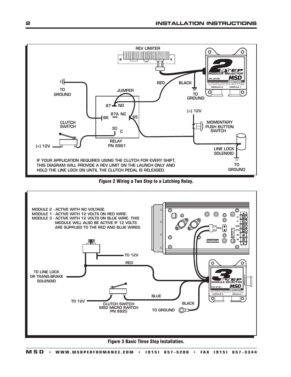 Msd Rpm Switch Wiring Diagram 2installation Instructions M S D Figure 3 Basic Three