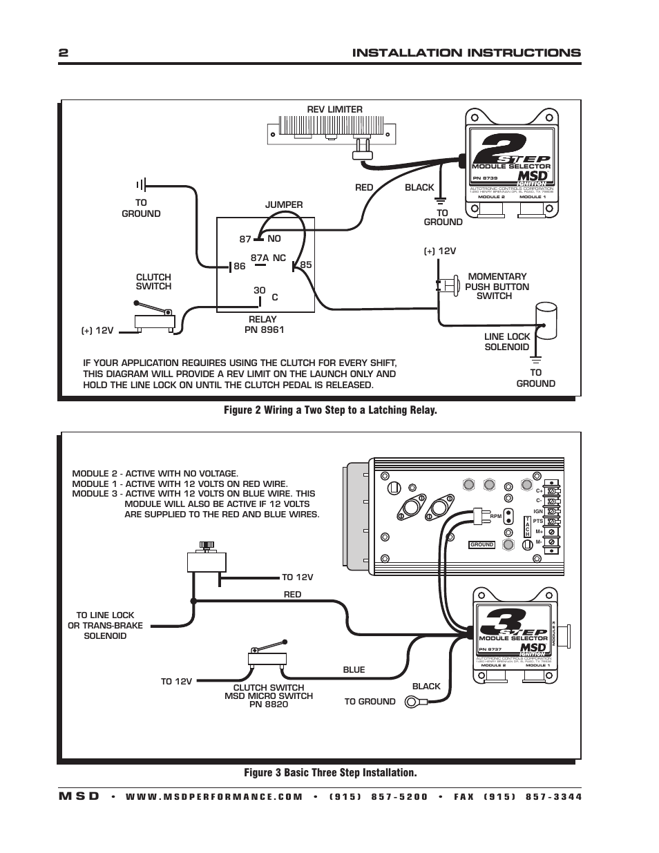 12v relay switch wiring diagram series 2installation instructions m s d, figure 3 basic three step installation, 2 a two ...