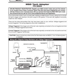 msd 8920 tach adapter magnetic trigger installation user manual 2 3 way switch wiring tel tach wiring diagram for msd [ 954 x 1235 Pixel ]