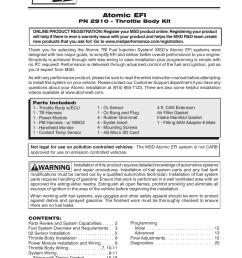 msd 2910 atomic efi master kit installation user manual 28 pages msd 6al 6420 wiring diagram gm atomic msd wiring diagram [ 954 x 1235 Pixel ]