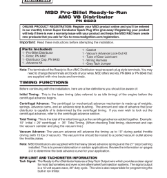 msd 8523 amc v8 ready to run distributor installation user manual 8 pages [ 954 x 1235 Pixel ]