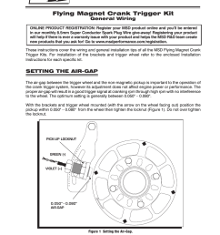 msd 8610 chevy small block crank trigger kit user manual 8 pages also for 8636 chrysler big block crank trigger kit 8615 chevy small block 8 balancer  [ 954 x 1235 Pixel ]