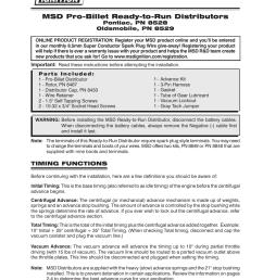 wiring diagram distributors wiring image msd 8529 oldsmobile v8 ready to run distributor installation user on [ 954 x 1235 Pixel ]