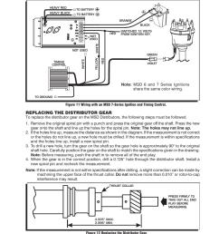 replacing the distributor gear msd 8584 ford v8 351w billet rh manualsdir com msd ignition 6al wiring diagram msd ignition 6al wiring diagram [ 954 x 1235 Pixel ]