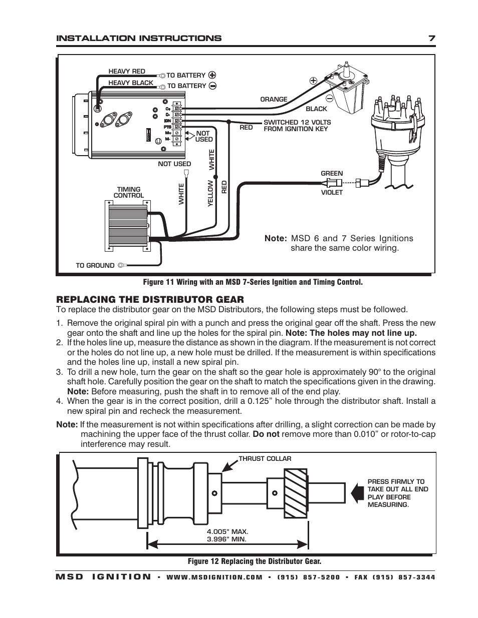 medium resolution of replacing the distributor gear msd 8584 ford v8 351w billet rh manualsdir com msd ignition 6al wiring diagram msd ignition 6al wiring diagram