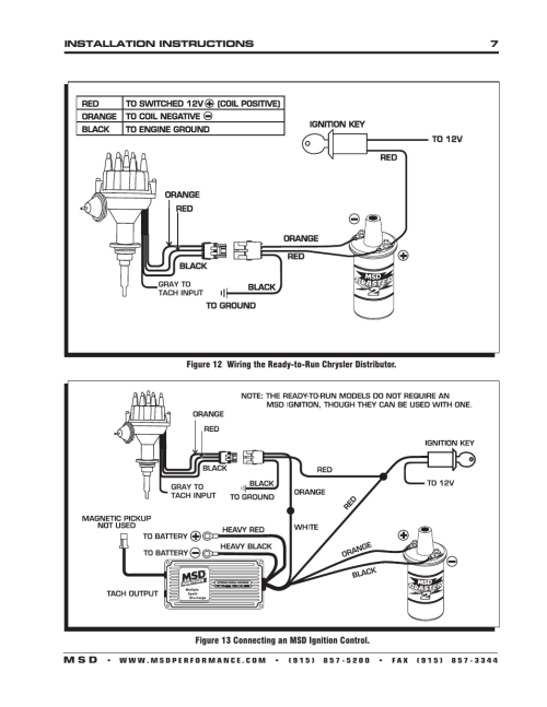 small resolution of msd 8388 chrysler 318 360 ready to run distributor installation user manual page 7 8 also for 8386 chrysler 383 400 ready to run distributor