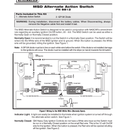 msd 8812 universal push button alt action switch installation user manual 2 pages [ 954 x 1235 Pixel ]