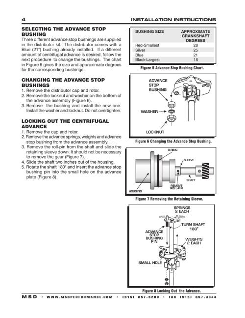 small resolution of msd 8579 ford 302 small diameter pro billet distributor installation user manual page 4 8 also for 8578 ford 351w small diameter pro billet