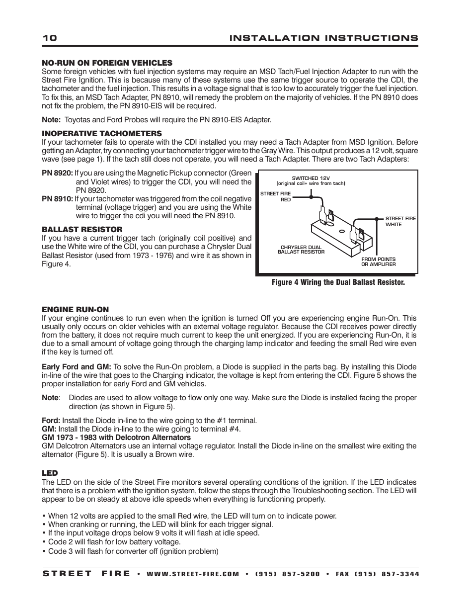 medium resolution of msd 5520 street fire ignition control installation user manual page 10 12