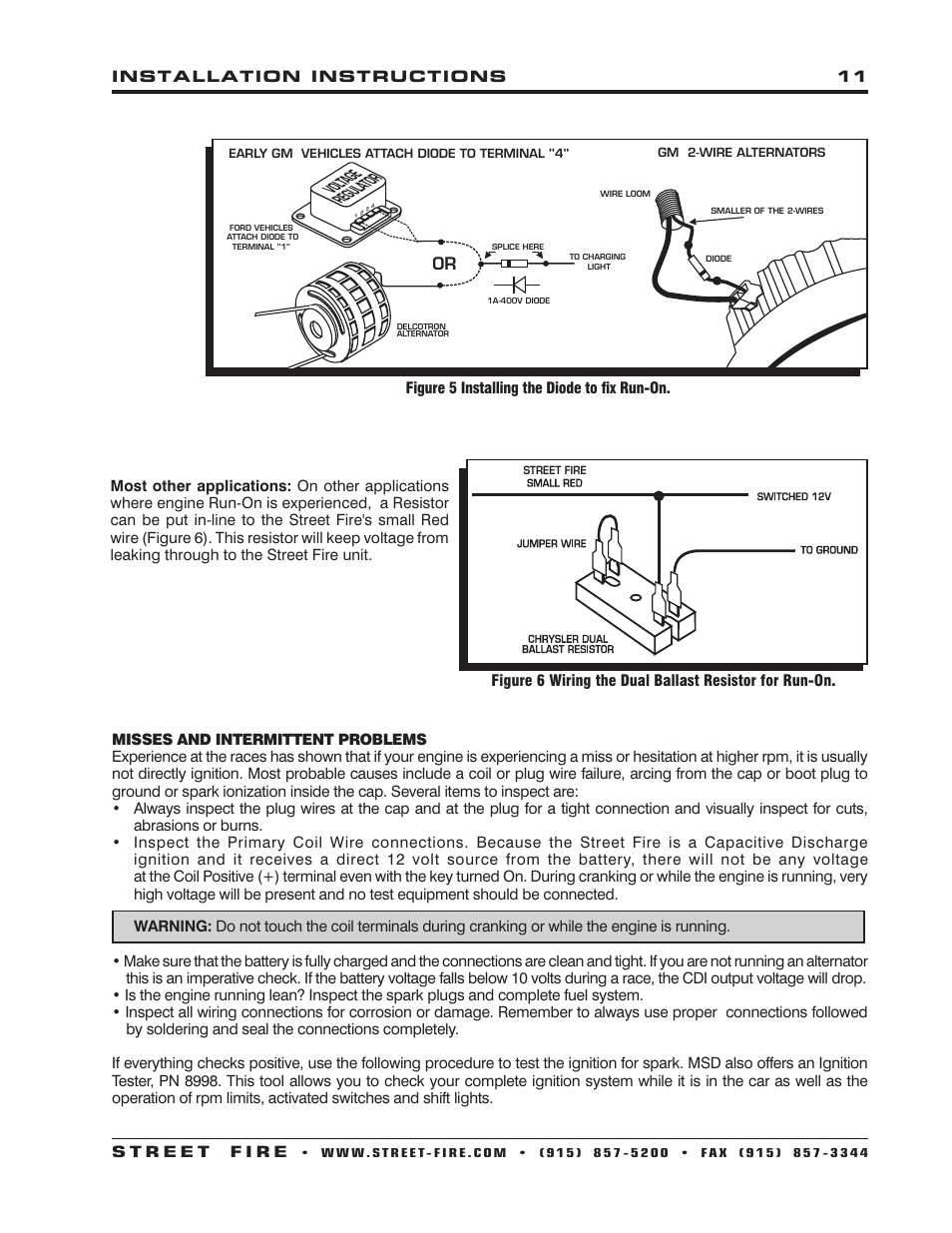 medium resolution of msd 5520 street fire ignition control installation user manual page 11 12