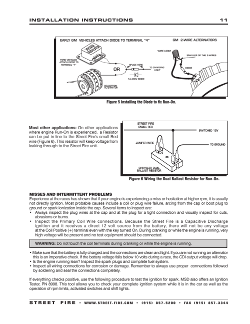 small resolution of msd 5520 street fire ignition control installation user manual page 11 12