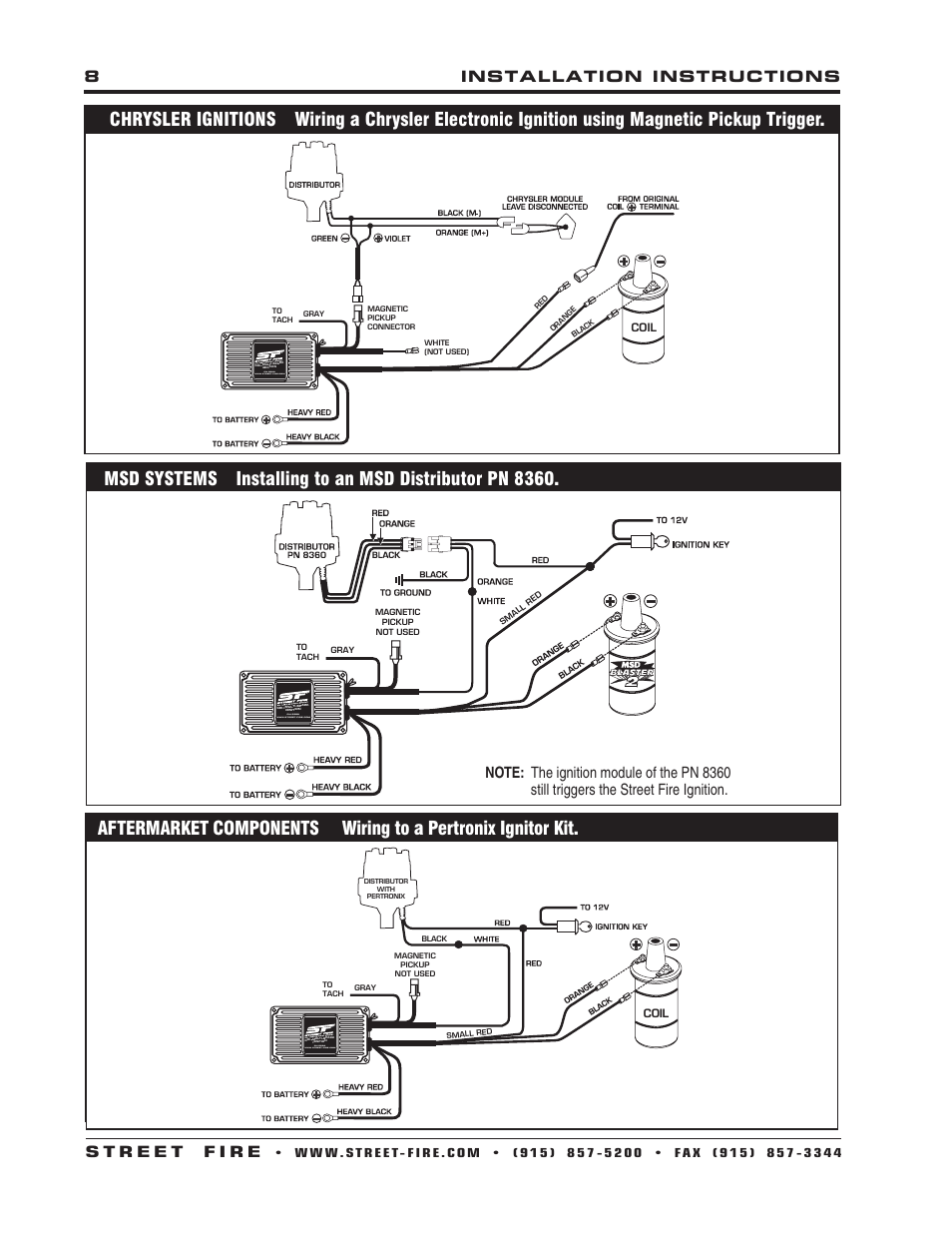 medium resolution of msd 5520 street fire ignition control installation user manual page 8 12