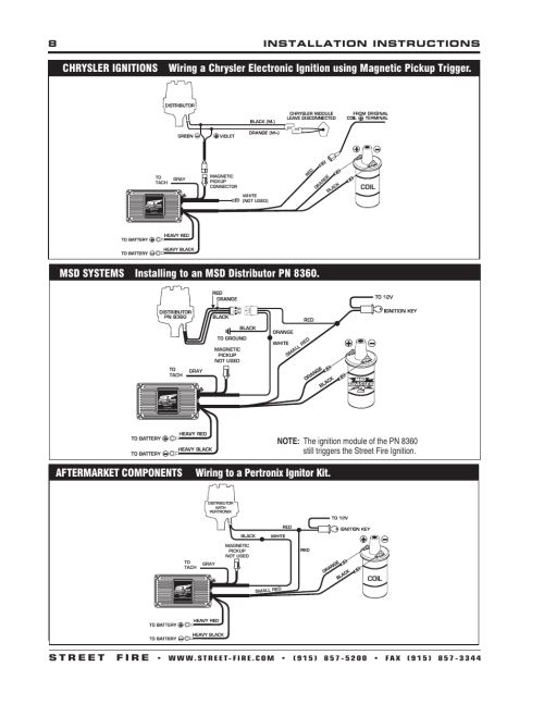 small resolution of msd 5520 street fire ignition control installation user manual page 8 12