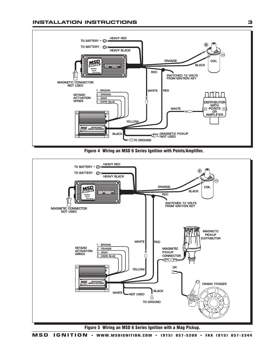 Msd 5 Wiring Diagram Msd 8975 Digital Multi Retard Installation User Manual