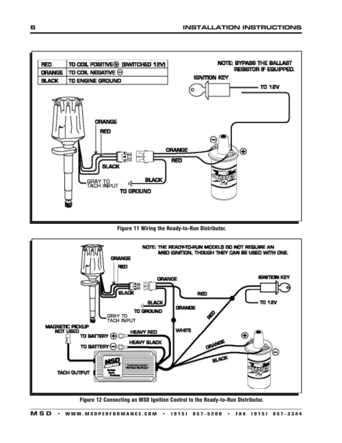 small resolution of msd 8573 flathead ford ready to run distributor for 49 53 installation user manual page 6 8